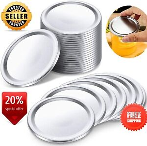 48 PCS Regular Mouth Canning Lids, CAMTOA Split-Type Metal Mason Jar Lids for Ca
