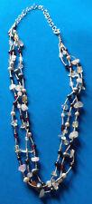 Collier Argent Massif 925 Perles de Culture & Quartz / Sterling Necklace