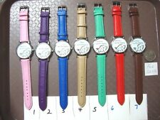 WHATEVER I'M LATE ANYWAY novelty watch Analogue Faux Leather Band NEW (7 colour)