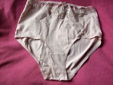 TU   FANCY BRIEFS SIZE UK 10 PEACH   COTTON /LYCRA/ LACE INSERT