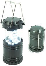 LED Camping Laterne mit 30 langlebigen LEDs sehr kompakt Metallgriff dunkelgrau