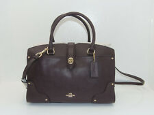 NWT New Coach Handbag Mercer Satchel 30 Purse in Oxblood Grain Leather 37575