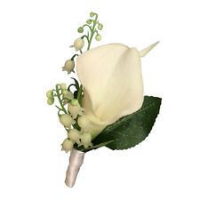 Boutonniere - Lily of the Valley and Calla Lily Boutonniere