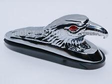 Chrome LED Eagle Head Ornament Statue For Motorcycle Front Fender Car Bonnet 12V