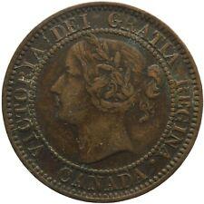 1859 One Cent Canada Coin Queen Victoria (MO2028-)