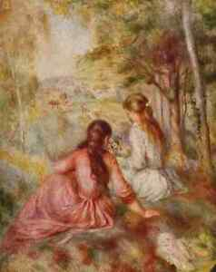 A4 Photo Renoir Pierre Auguste 1841 1919 In the Meadow Print Poster