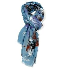 Dandelion Scarf Mustard Scarves Blue Flower Floral Shawl Wrap Ladies Scarfs Sale