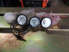 John Deere White face three gauge set