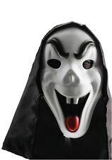 Masque monstre blanc type fantôme qui tire la langue halloween deguisement fetes