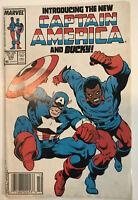 Captain America 334 1st App of Lamar Hoskins as Bucky Marvel Newsstand Fine!