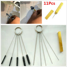 11pc/Set Car Windshield Spray Wiper Nozzle Washer Jet Cleaning Needle Brush Tool