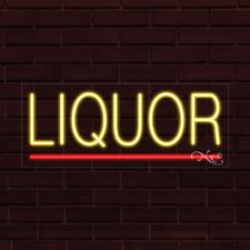 Brand New Liquor Withunderline 32x13x1 Inch Led Flex Indoor Sign 30086
