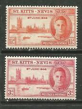 St Kitts & Nevis Scott# 91-92 * MLH  Paz 1946