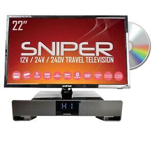 22″ HD LED Travel TV, built in DVD, Sat, Freeview, BT5.1 + Bluetooth Soundbar