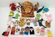 Finger Puppet Lot 26 Animals Bride Groom Santa Clifford Cow Tiger Hand Puppet