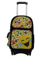"""F16EM30570 EMOJI Emojination Large Handle Rolling Backpack 17"""" x 12"""" x 6"""""""