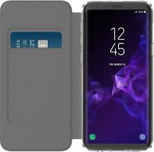 Incipio Wallet Flip Folio Case Cover for Samsung Galaxy S9 / S9+ Plus Clear/Gray