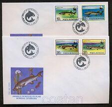 1994 Sturgeons,Protected Fishes,WWF,Störe,Poissons,Panda,Romania,Mi.5034,FDC