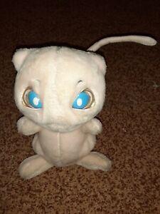 Pokemon Electronic Mew Talking Moving Tail Eyes Plush Hasbro Vintage 1998 Works