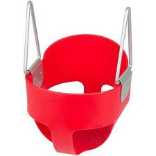 SWING SET STUFF HIGHBACK FULL BUCKET SWING SEAT RED toddler accessory 0001
