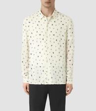 BNWT Mens All Saints Vee Long Sleeve Shirt Size XS in Chalk £90