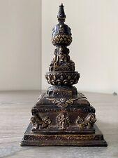 Tibetan Buddhist Stupa/Chorten 4 Buddhas Brass Alter/Shrine. Hand made in Nepal