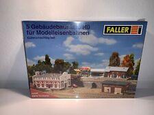 Faller Güterumschlag-Set  5 Gebäudebausätze - Original verschweißt - NEU Spur H0