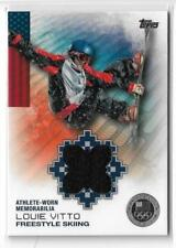 RARE 2014 TOPPS OLYMPIC LOUIE VITTO SILVER RELIC CARD /50 ~ FREESTYLE SKIING