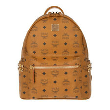 MCM STARK SMALL SIDE-STUDDED Cognac Backpack