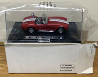 New Speedy Power Red And White Shelby Cobra 427 S/C Diecast With Case 1:32 Scale