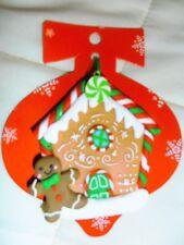 Árbol de Navidad decoración casa de pan de jengibre hombre-en Blanco & - agregar su propio nombre