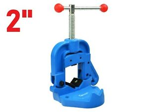 """2"""" Hinged Pipe Vice 10-50mm Reversible Self Locking Plumbing Pipe Tool Steel"""