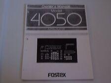 Fostex Model 4050 AutoLocator   PDF Manual