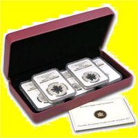 2013 1.9 oz Silver Canadian Maple NGC PF 70 UC 25TH ANN 5 COIN SET MINT BOX COA