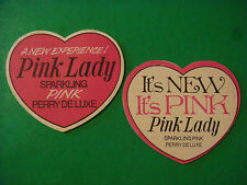 Beer Bar Coaster ~*~ Pink Lady Sparkling Pink Perry Deluxe ~*~ A New Experience!
