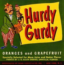 Umatilla Florida Hurdy Gurdy Orange Citrus Fruit Crate Label Art Print