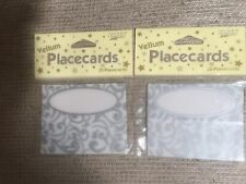 Vellum Wedding White And Silver Place Cards 2 Packs Of 25 =50