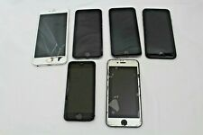 LOT OF 6 BROKEN/LOCKED APPLE  IPHONES - FOR PARTS REPAIRS OR REPLACEMENTS