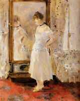 MORISOT BERTHE THE CHEVAL GLASS ARTIST PAINTING REPRODUCTION HANDMADE OIL CANVAS