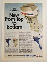 1970 Print Ad Evinrude Outboard Motors 4 Models Shown Milwaukee,WI