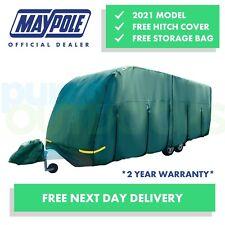 Maypole Premium 4-Ply Verde Cubierta Completa Caravana Transpirable-se adapta a 21-23 ft MP9535