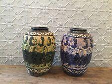 Vintage Patterned Ceramic Vase