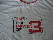 VINTAGE XEROX copy machine gray red double collar punk rock T Shirt L
