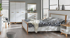 7 PC Bedroom Set Complete Schlafmöbel Wardrobe Nightstand Dresser Bed