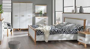 7 PC Bedroom Set Complete Schlafmöbel Wardrobe Nightstand Dresser Bed