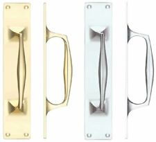 Fulton & Bray Cast Brass Pull Handle with Backplate In Various Finishes & Sizes