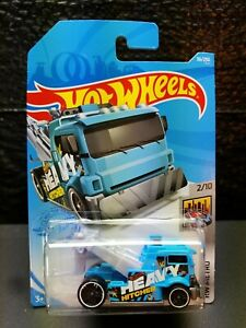 2021 Hot Wheels #36 Blue Heavy Hitcher. Nice Brand New Package