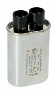High Voltage Running Capacitor for Microwave Oven 2 + 2 Pins 0.95µF 2.1kV