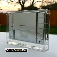Best Nintendo SNES Video Game Cartridge Display Case (Highest quality plastic)
