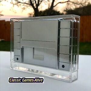 Best Nintendo SNES Video Game Cartridge Display Case (Highest quality plastic)
